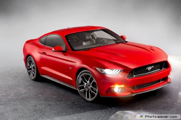 2015 Ford Mustang Front on grey background