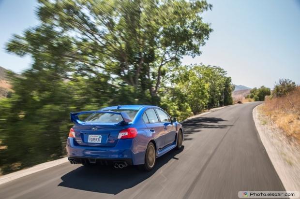 2015 Subaru WRX STI Launch Edition Rear End In Motion