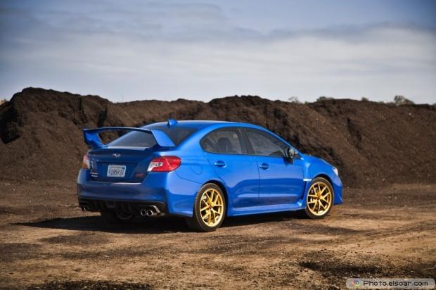 2015 Subaru WRX STI Launch Edition Rear Three Quarter In Motion