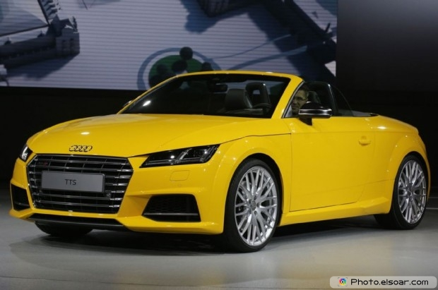 2016 Audi Tts Roadster Front Three Quarter View - Yellow