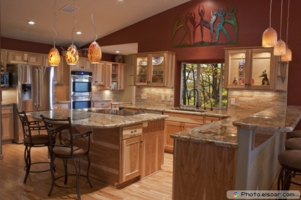 A Luxury Kitchen With Granite Countertops