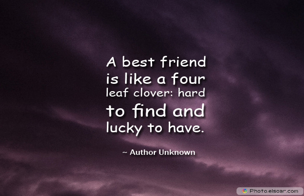Best Friends Forever , A best friend is like a four leaf cloverhard to find