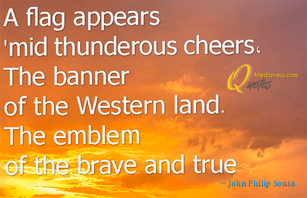 Flag Day , A flag appears 'mid thunderous cheers