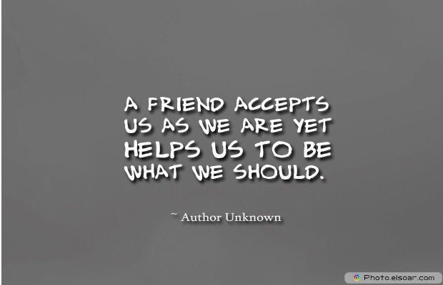 Best Friends Forever , A friend accepts us as we are yet helps