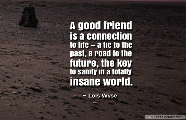 Best Friends Forever , A good friend is a connection to life