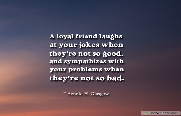 Best Friends Forever , A loyal friend laughs at your jokes when they're not so good