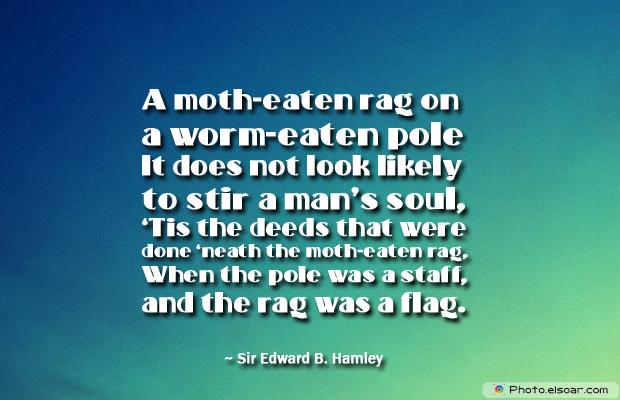 Flag Day , A moth-eaten rag on a worm-eaten pole