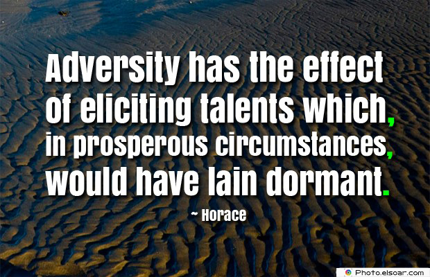 Adversity has the effect of eliciting