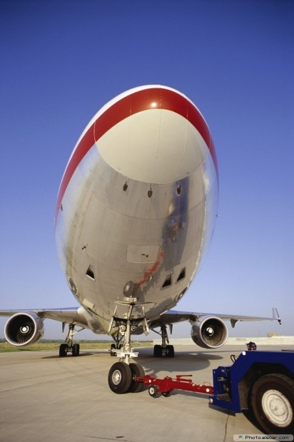 Airplane Nose With Blue Sky