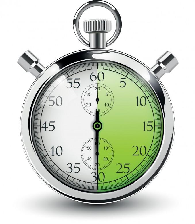 Alarm clock and stopwatch