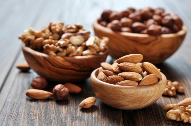 Almonds, walnuts and hazelnuts