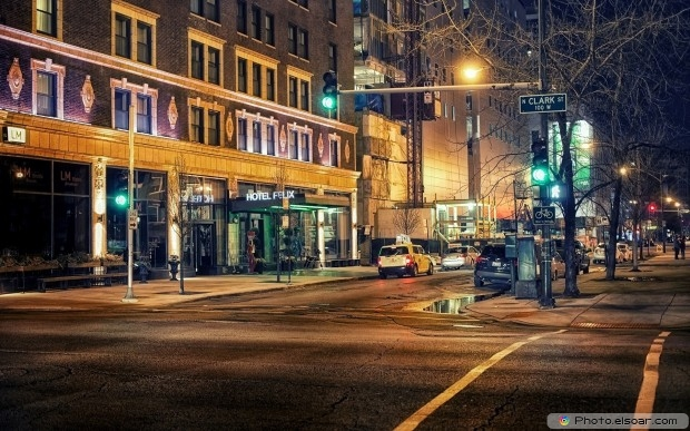 Amazing Cityscapes At Night Free HD Wallpaper