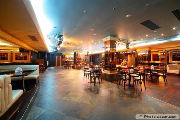 Amazing european stylish night club with bright lights