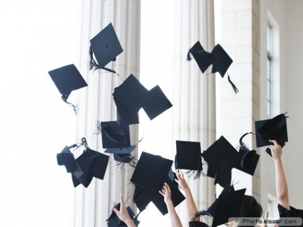 Amazing. throwing graduation hats