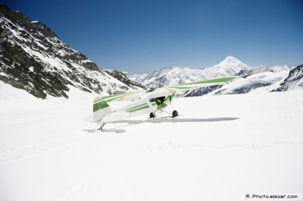 An Airplane On The Aletsch Glacier