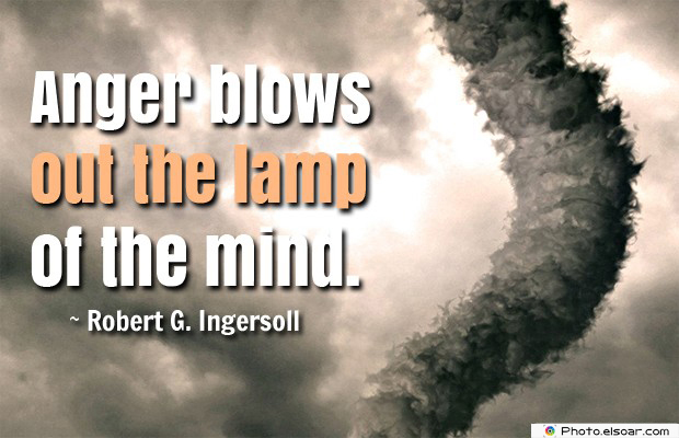 Quotes About Anger , Anger blows out the lamp