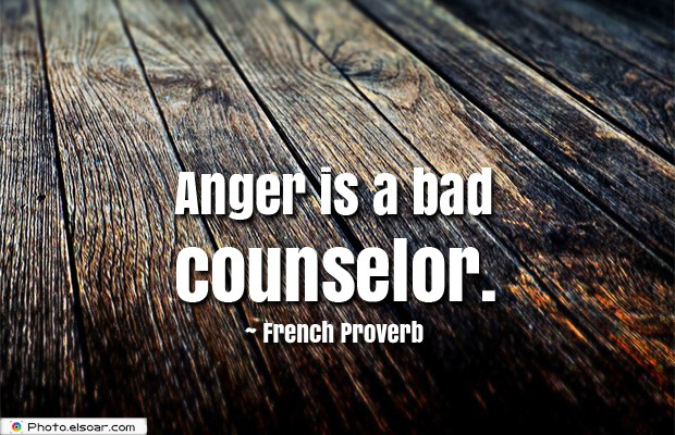 Quotes About Anger , Anger is a bad counselor