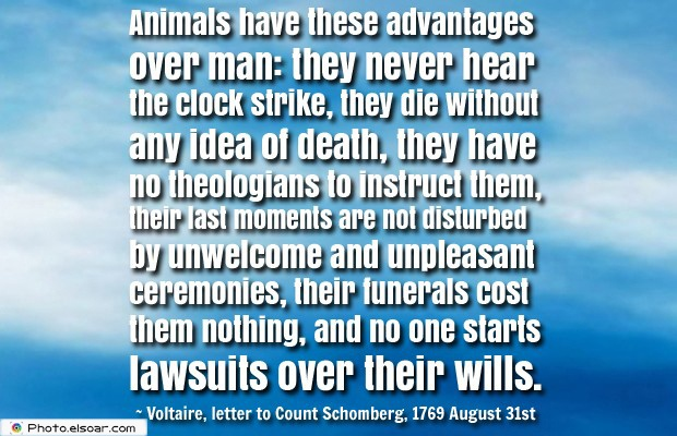 Animals have these advantages