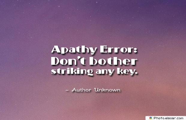 Apathy Error