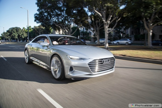 Audi Prologue Concept Front Three Quarter In Motion