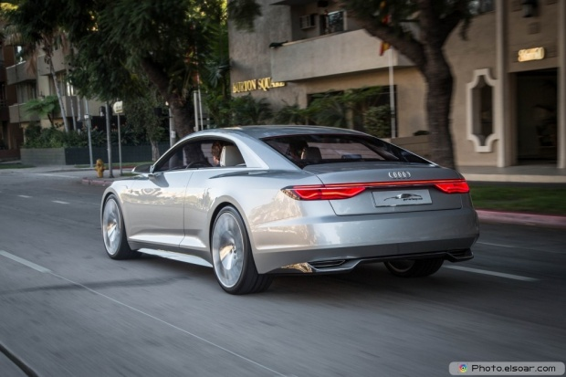 Audi Prologue Concept Rear Three Quarter In Motion
