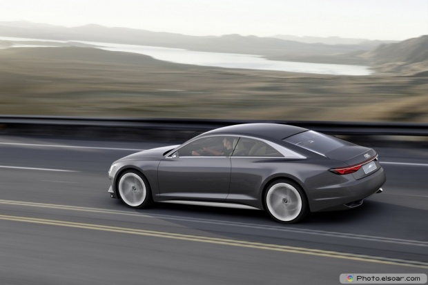 Audi Prologue Piloted Driving Concept Rear Three Quarter In Motion