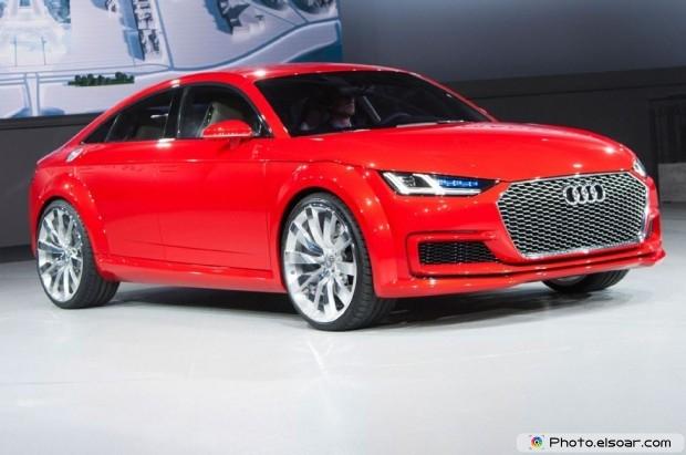 Audi Tt Sportback Concept Front Three Quarter At Autoshow