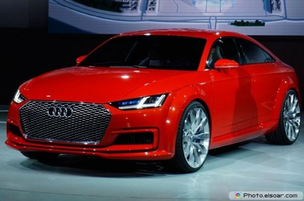Audi Tt Sportback Concept Front Three Quarter View - Red