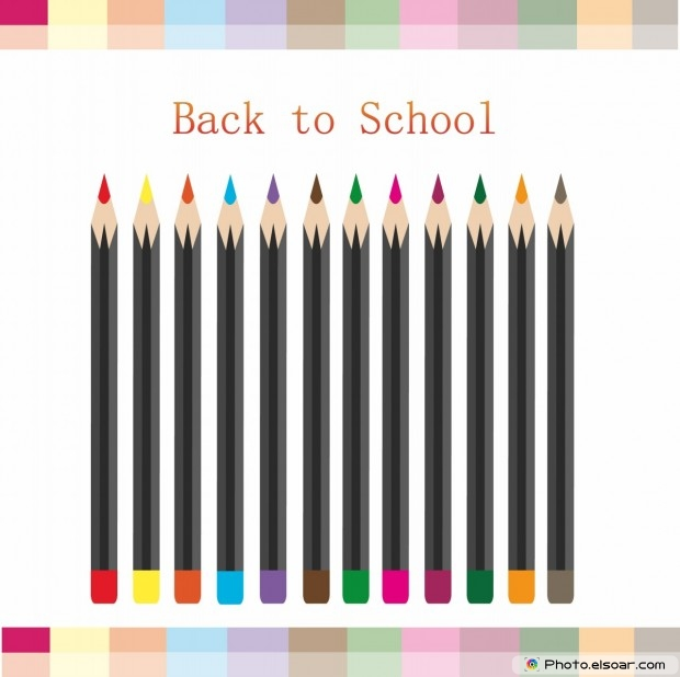 Back To School With Many Pencils
