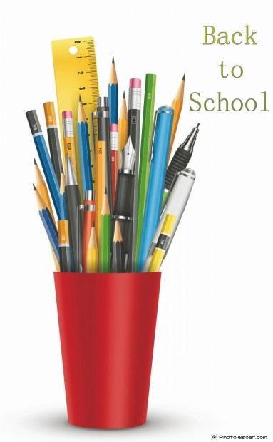 Back To School With Pens And Pencils