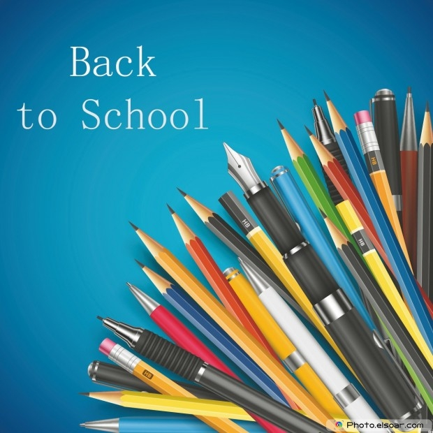 Back To School With Pens Composition