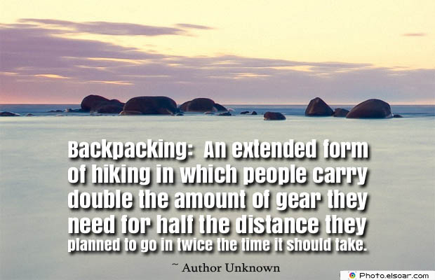 Backpacking An extended form