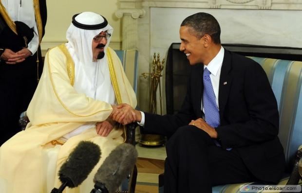 King Abdullah of Saudi Arabia and Barack Obama