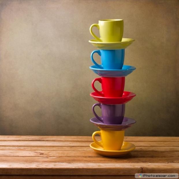 Beautiful Colorful Coffee Cups