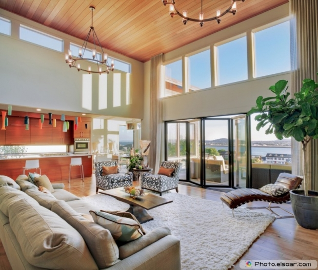 Beautiful Living Room in New Modern Home