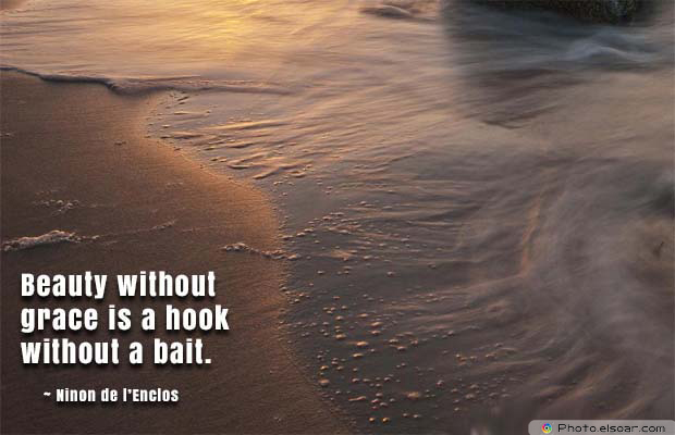 Beauty Quotes , Beauty without grace is a hook