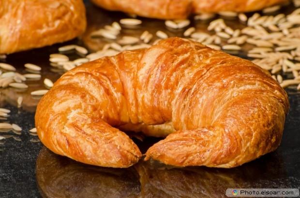 Big, Fresh And Tasty Croissants