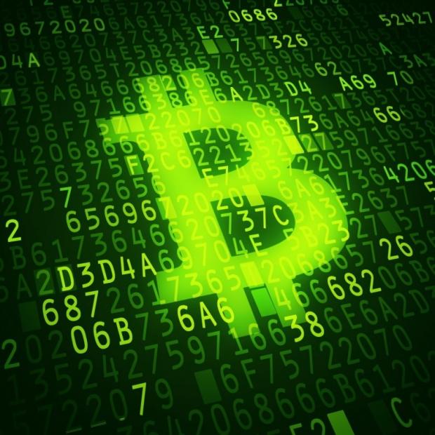 Bit coin symbol as virtual currency symbol
