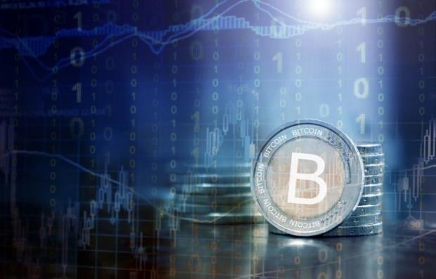 Bitcoin financial concept