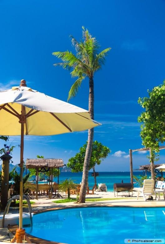 Blue Luxury Beach Hotel with pool