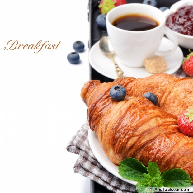 Breakfast With Coffee, Croissants