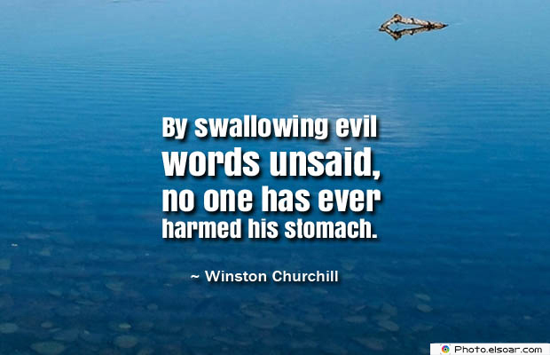 Quotes About Chakras , By swallowing evil words