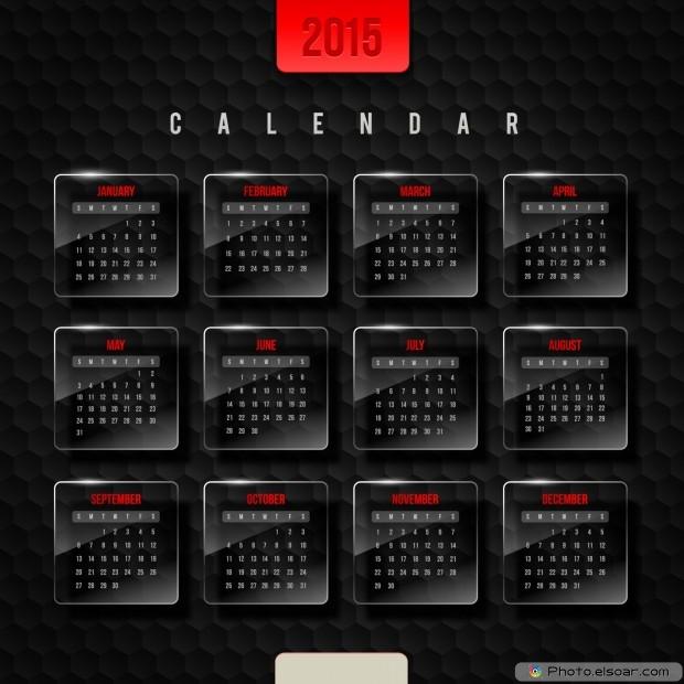 Calendar 2015 - Black Design
