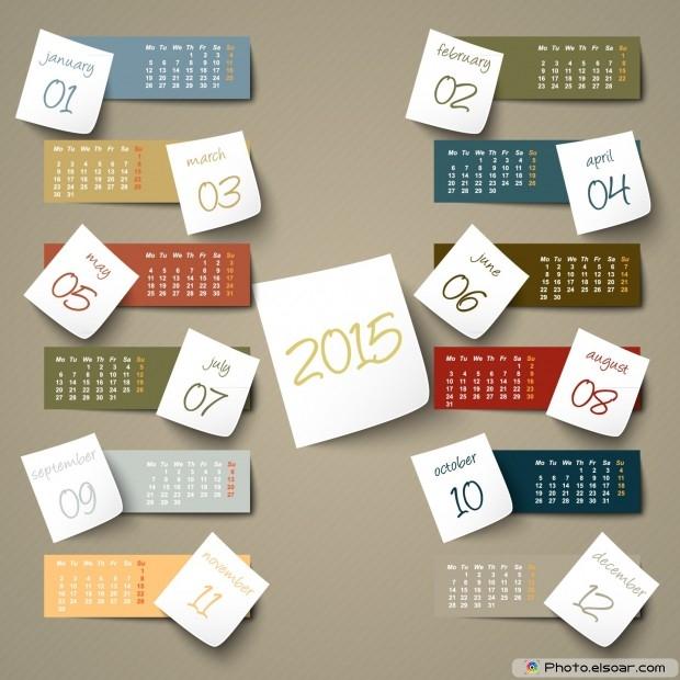 Calendar 2015 Boxes