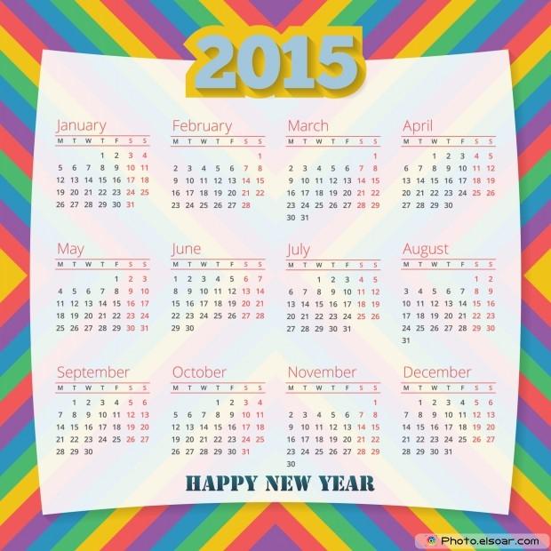 Calendar 2015 Free JPEG Design