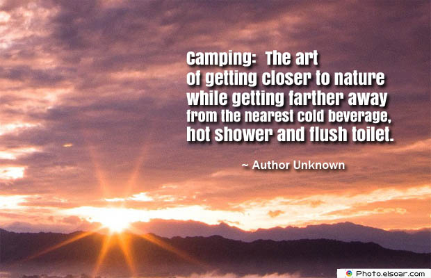 Camping The art of getting