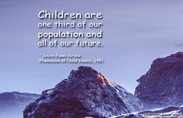 Children are one third of our population