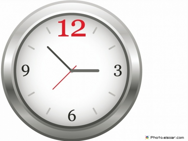 Clock with hour, minute and seconds hand