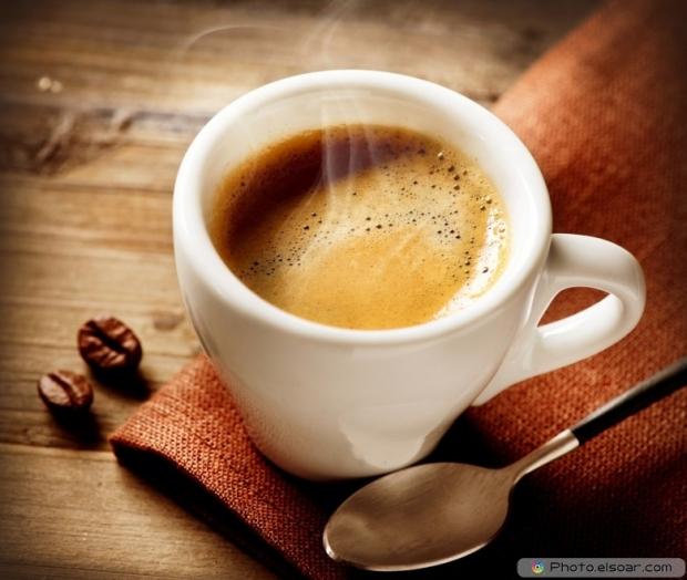 Coffee Espresso With Spoon