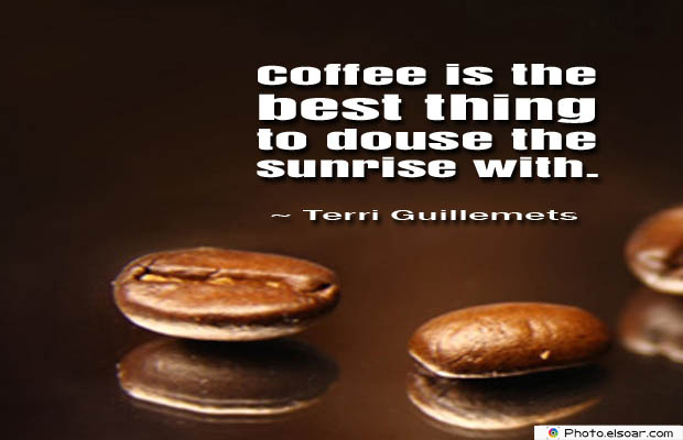 Quotes About Coffee , Coffee Quotes , Coffee is the best thing to douse